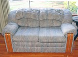 Love Seat w/ Wood Accents