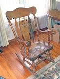 Large Wood Rocking Chair