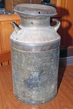 Old Milk Can w/ Lid