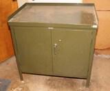 Old Metal Storage Cabinet