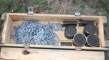 Ammo Crate w/ Chains, Lubricants & Military Items