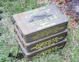 3 Military Surplus Ammo Tins
