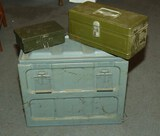 Metal  Containers & Vintage Tackle Box