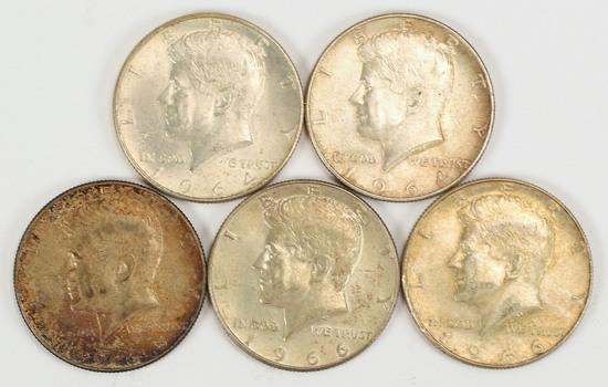 2-1964 Kennedy 90% Silver Halves, 1965/2-1966 40% Silver Halves