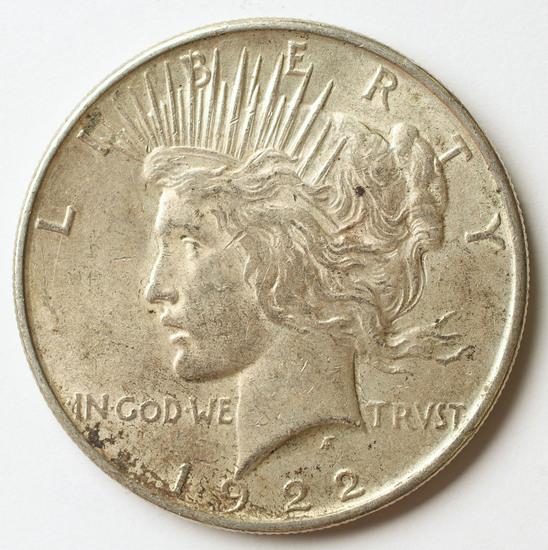 1922-P Peace Silver Dollar