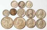 Misc. Collectible Silver Coins; 1943 Walking Liberty, 1964 Kennedy Half, &