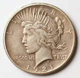 1921-P Peace Silver Dollar
