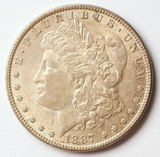 1887-P Morgan Silver Dollar