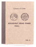 Book of Roosevelt Head Silver Dimes, Incomplete, 1946-date