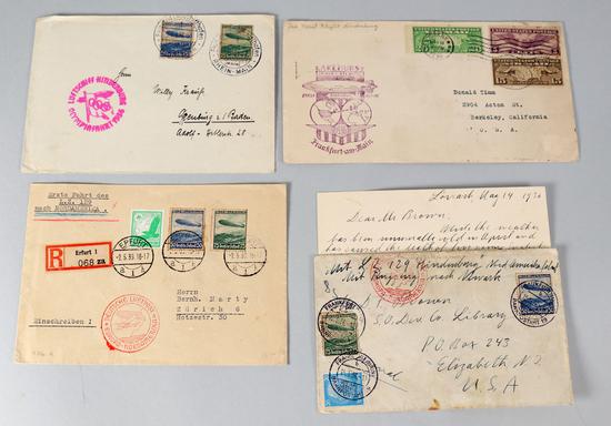 Hindenburg Air Mail Stamped Envelopes, Letter