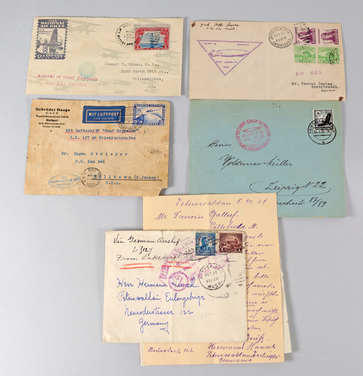 Graf Zeppelin, D-LZ 127, Stamped Envelopes, Letter