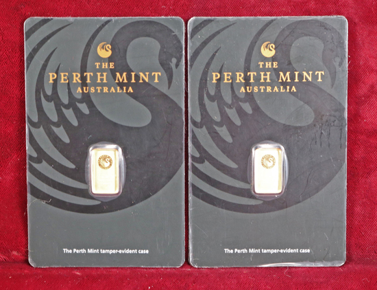 2 Grams .999 Pure Gold - Perth Mint