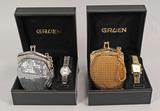 Gruen Ladies Quartz Watches w/ Matching Bag