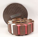 Poker Chips w/ Carrier & Cover