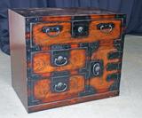 Asian Style Burnished Wood Cabinet
