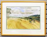 Watercolor Landscape Picture, Unsigned