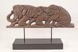 Carved Elephant Décor - Sculpture