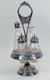 Cruet Set w/ Clear Glass Containers
