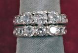 14k Diamond Wedding Set, Sz. 6, 10.4 Grams