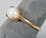 14k Gold Pearl Ring, Sz. 7, 2.9 Grams