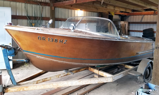 1963 Tollycraft 17' Runabout Wooden Boat