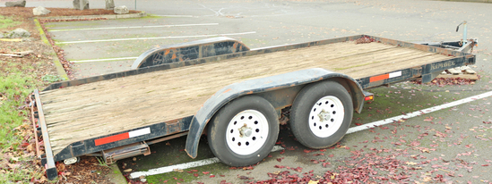 2008 Kimbel Flat Bed Trailer, 18'