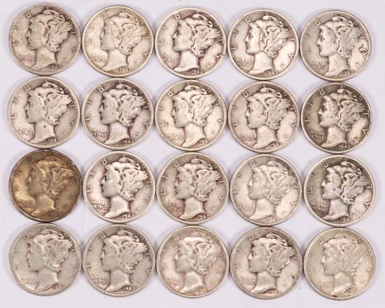 20 - 1942-P Mercury Dimes
