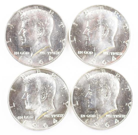 4 - 1964-D Kennedy Half Dollars