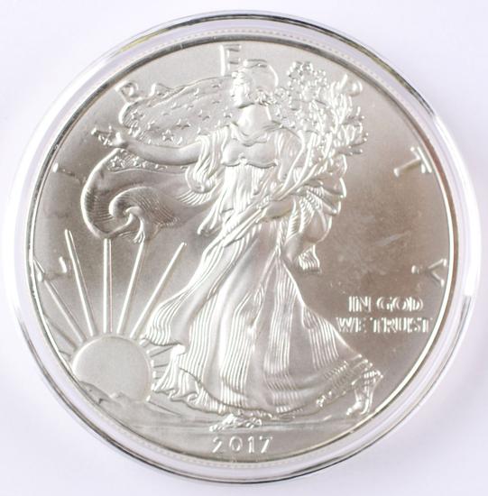 2017 Walking Liberty American Eagle Silver Dollar, 1 oz Fine Silver