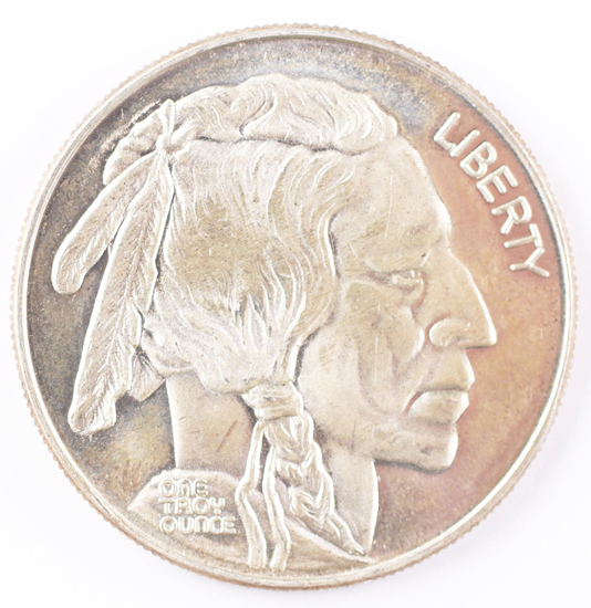 1 Troy Oz .999 Silver Round Liberty Indian Head Design