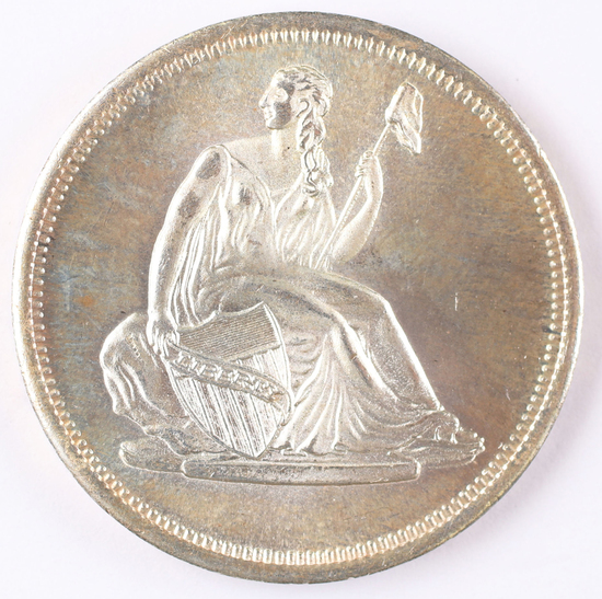 1 Troy Oz .999 Silver Round Seated Liberty Design