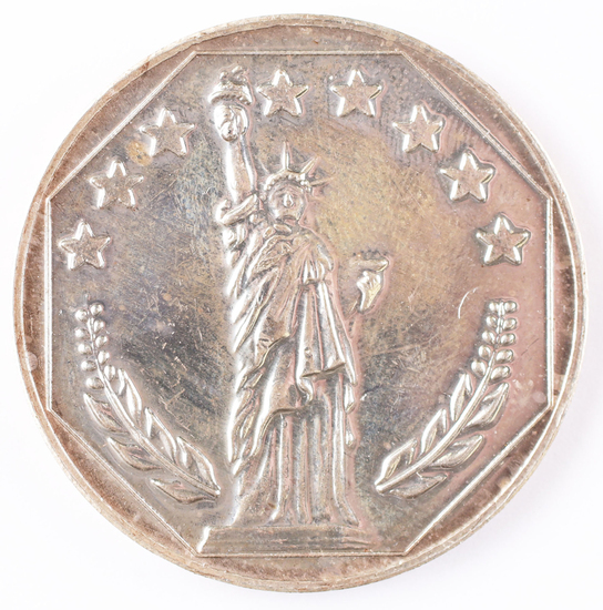 1 Troy Oz .999 Silver Round Statue of Liberty, Siltex, Inc