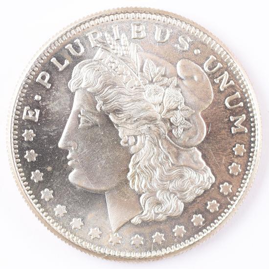 1 Troy Oz .999 Silver Round Morgan Dollar Design