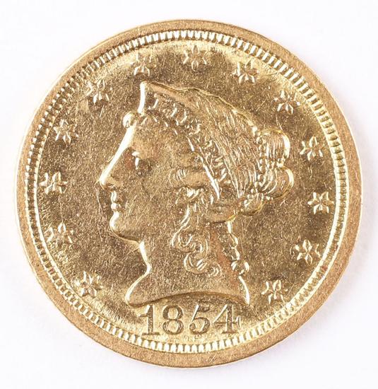 1854-O  $2.50 Gold Liberty Eagle Coin