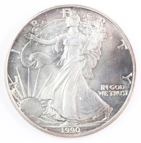 1990  $1 American Silver Eagle, 1oz. Fine Silver