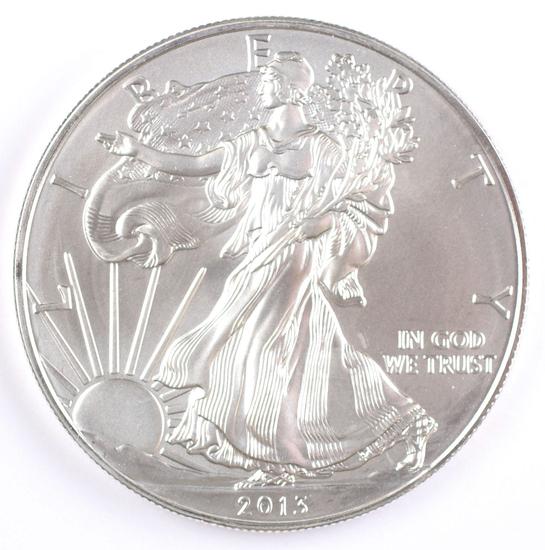 2013  $1 American Silver Eagle, 1oz. Fine Silver
