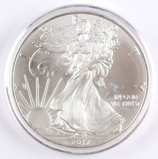 2017  $1 American Silver Eagle, 1oz. Fine Silver