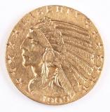 1909-D $5 Gold Indian Half Eagle
