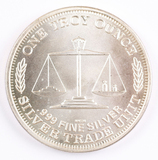 1 Troy oz. .999 Fine Silver, Silver Trade Unit