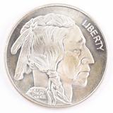 1 Troy oz. .999 Fine Silver, Liberty Indian Head Design