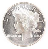 1 Troy oz. .999 Fine Silver, Peace Dollar Design