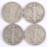 3 1940-S + 1 1940-P Walking Liberty Half Dollars