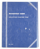 Book of Roosevelt Silver Dimes 1946 on, (approx.70 coins)
