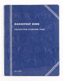 Book of Roosevelt Silver Dimes, 1946 on, (approx.54 coins)