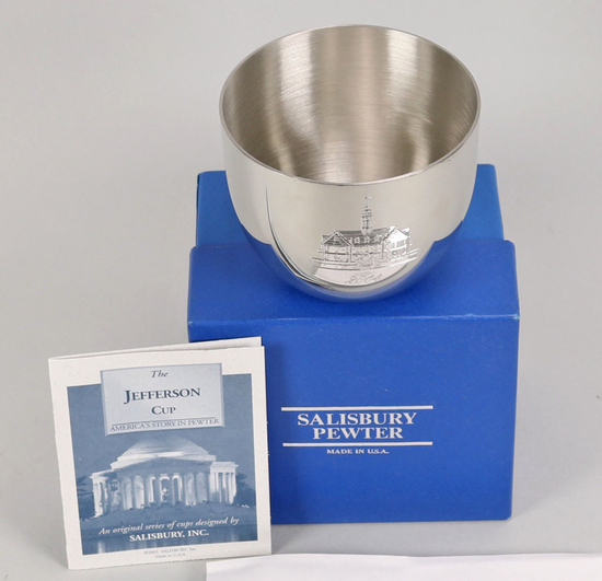 "Charity Item - Salisbury Pewter ""Jefferson Cup"""
