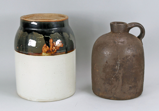 Butter Churn Crock & Small Jug