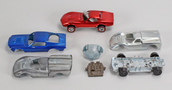 "Assorted Hot Wheels ""Redline"" Era Parts & Car"