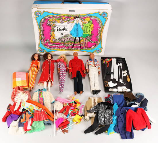1966 Barbies & 1968 Ken Dolls, Mattel