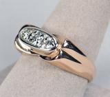 Men's 18k Rose Gold & Diamond Ring, Sz. 10, 10.21 Grams