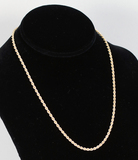 14k Gold Rope Style Necklace, 11.7 Gram